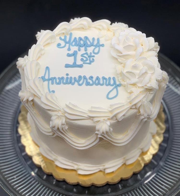 Happy 1st Wedding Anniversary Cake